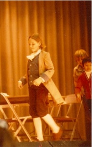 Early gal trooping. I insisted on a frock coat and actual breeches.