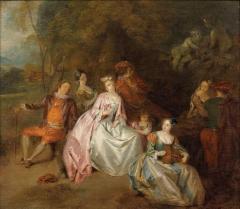 Galerie Dreyfus- Scène galante dans un parc, ca 1725