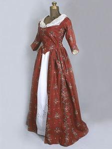 1780-1790 chintz gown