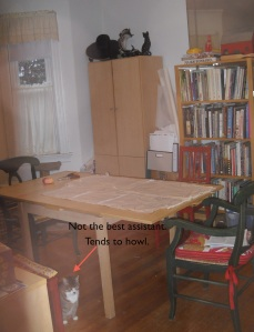 "Dining/sewing/library room with ""assistant"""