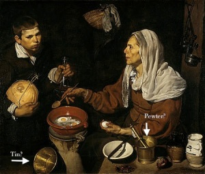 An Old Woman Cooking Eggs, Diego Velazquez, 1618. National Gallery of Scotland, NG 2180
