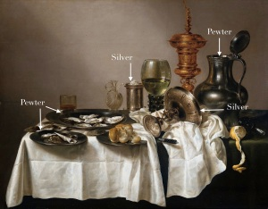Willem Claesz.Heda, Still life with gilt goblet, 1635. Rijksmuseum, Amsterdam