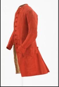 Man's Coat, red broadcloth ca. 1770, CW 1953-59