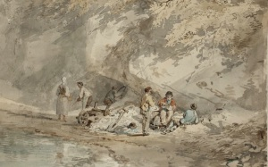 Workmen Lunching in a Gravel Pit circa 1797 Joseph Mallord William Turner 1775-1851