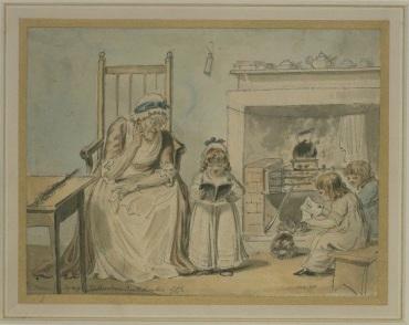 The Dame School, Isaac Cruikshank. V&A 144-1890