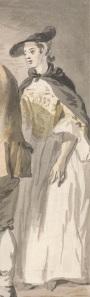 Paul Sandby, London Cries: The Fishmonger (detail), 1759. YCBA B1975.3.210