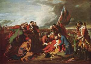 The Death of General Wolfe, Benjamin West. NGC