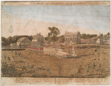 The Battle of Lexington, 1775. Engraving by Ralph Earl. NYPL Digital Library