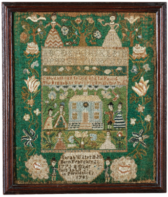 Sotheby's Sale N08832, Lot 563: The Sarah Waterman sampler