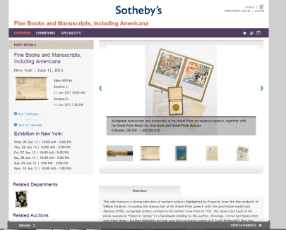 Sotheby's sale June 11 2013