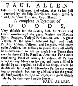 Providence Gazette and Country Journal, 4-18-1772