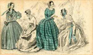 Fashions, 1841. Fashion Plate Collection, Ella Strong Denison Library, Claremont College