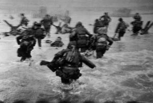 FRANCE. Normandy. June 6th, 1944. Landing of the American troops on Omaha Beach. Robert Capa, International Center of Photography