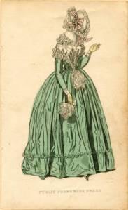 Public promenade dress, 1842. Claremont College