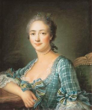 PORTRAIT D'UNE FEMME EN BUSTE, by FRANCOIS-HUBERT DROUAIS ca. 1757