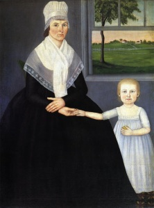 Mother with Son (Lucy Knapp Mygatt and Son, George), 1799. Oil on canvas by John Brewster, Jr. Palmer Museum of Art, Pennsylvania State University