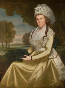 Mabel Ruggles Canfield. Oil on canvas by Ralph Earl, 1796. Litchfield Historical Societym 1917-04-4