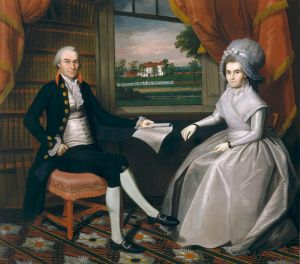 Oiver Ellsworth and Abigail Wolcott Ellsworth. Oil on canvas by Ralph Earl, 1792. Wadsworth Atheneum, 1903.7