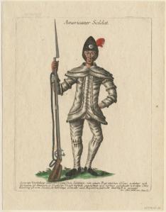 Americaner Soldat, Johann Martin Will. Ann S. K. Brown Collection, Brown University.