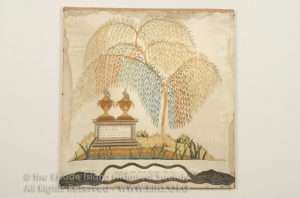 Mourning Embroidery by Ann Barton, 1800. RIHS 1840.1.14