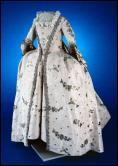 ca. 1755 (Silk), dress remodeled ca. 1770. Colonial Williamsburg 1990-12,1