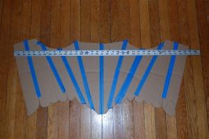 Stay pattern mock-up, measured.