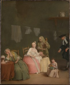 The Letter, oil on canvas by Pietro Longhi. MMA 14.32.1.