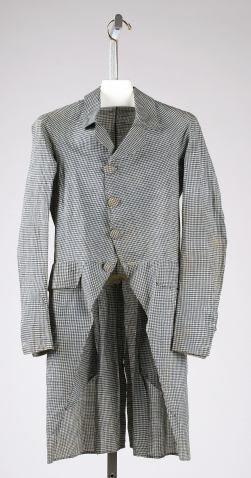 Coat, 1790s American CB: 38 in. Gift of The New York Historical Society, 1979.346.42. MMA