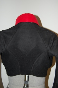The shaped back piece.