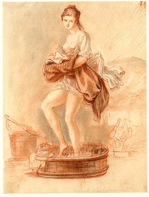 A Scotch Washerwoman. Crayon drawing by Pauil Sandby after 1745. British Museum, Nn,6.61