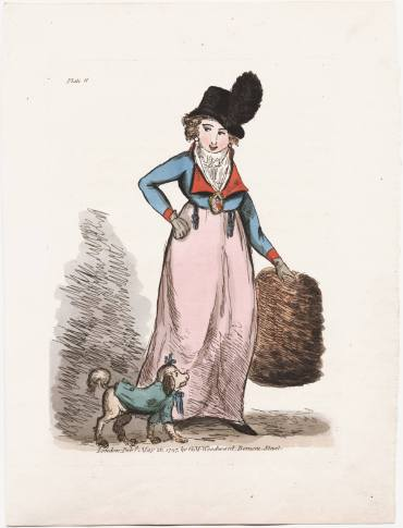 [An amazonian dress]. London : Pubd. May 26, 1797, by G.M. Woodward, Berners Street. Lewis Walpole Library Image Number lwlpr08972, Call Number 797.05.26.02