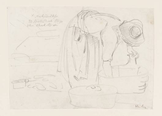 A Washerwoman, by John Varley (1778-1842). Tate Britain, T08695