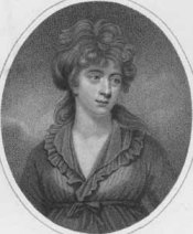 Amelia Opie (1769-1863). Engraving by Ridley after painting by [John] Opie, 1803. Massachusetts Historical Society, Photo. 81.490