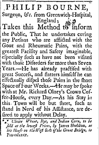 Providence Gazette and Country Journal, June 16, 1764. V II, Issue 87, page 3