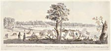Encampment of the Loyalists at Johnstown, a New Settlement, on the Banks of the River St. Lawrence in Canada, taken June 6th 1784, James Peachey.