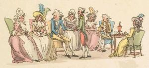 Detail, Picturesque studies and scenes of everyday life watercolor by Thomas Rowlandson, 1790. Royal Collection Trust. RCIN 810396