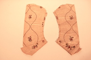 Sleeves, removed from bodice 1990.36.27. RIHS 1990.36.25A-B