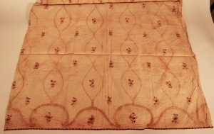 Skirt panel, painted Indian cotton. RIHS 1990.36.33