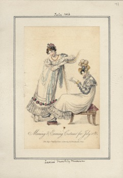 Ladies' Monthly Museum, v. 5, plate 71. July 1, 1816. Casey Fashion Plate Collection, Los Angeles Public Library