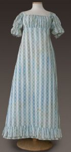 Roller print day dress, 1810-1815. Susan Greene Collection, GCVM 90.25