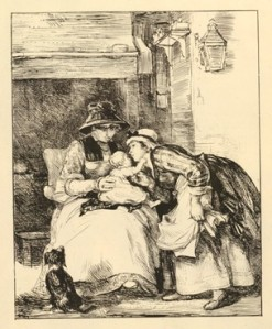 Kissing the Child. Lithograph by David Wilkie, 1800-1841. British Museum, 1852,1211.134