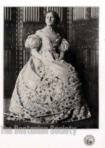 Photograph of the altered gown. Bostonian Society, 1910.0050.057