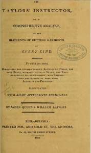 Title page, The Taylors' Instructor