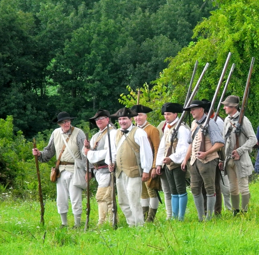 18th century militia in small clothes