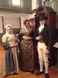 Costumed interpreters as 19th century Quakers