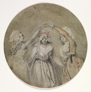 he frail sisters John Raphael Smith (1752-1812) Chalk (black and coloured) on paper (given a light grey ground) Height: 19.4 cm (circular); Acquisition Witt, Robert Clermont (Sir); bequest; 1952 D.1952.RW.4037, Copyright: © The Samuel Courtauld Trust, The Courtauld Gallery, London
