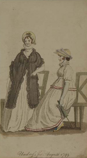Undress for August, 1799. Museum of London