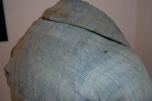 Detail, the John Miner Coat, Stonington Historical Society, 2009.120.001