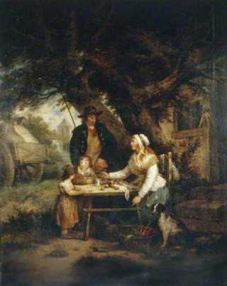 Selling Carrots by George Morland Date painted: 1795 Oil on canvas, 76 x 63.5 cm Collection: Brighton and Hove Museums and Art Galleries