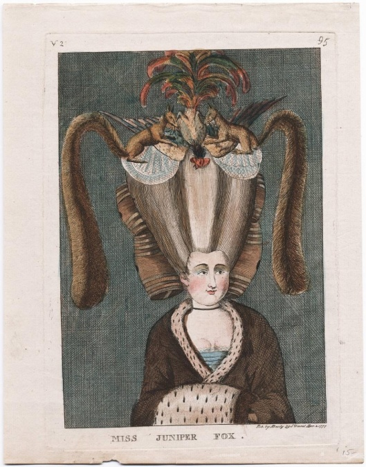 Miss Juniper Fox. [London] : Pub. by MDarly 39 Strand, Mar. 2, 1777. Lewis Walpole Library , 777.03.02.01.